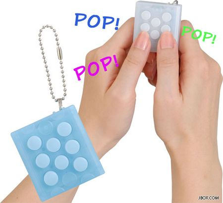 This Japanese product simulates the sound and feel of popping bubble wrap, and best yet, you can pop forever because this bubble wrap never run out.