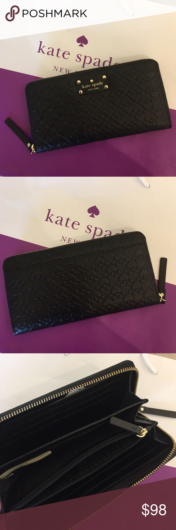 ♠️♠️♠️♠️♠️print Kate Spate wallet. NWT Brand new Kate Spade wallet with spades print ♠️♠️♠️♠️♠️♠️♠️. No trade please kate spade Bags Wallets