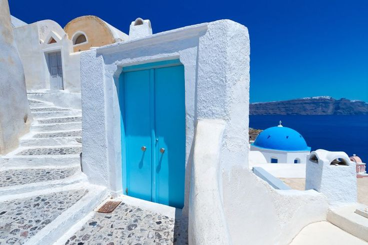 Fototapeta F2275 - Architektura greckiej wyspy Santorini