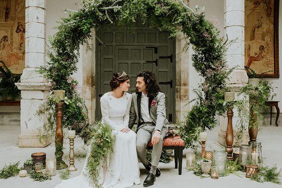 vegetación ceremonia de la boda