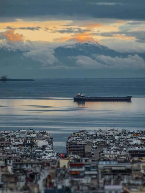 View of Olympos from Ano Poli (Upper Town), Thessaloniki