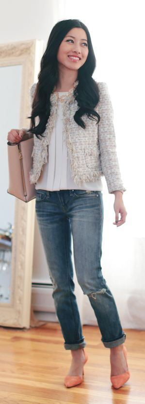 Chanel Inspired Tweed Jacket by Extra Petite