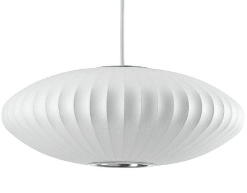 George Nelson Saucer Bubble Pendant Lamp Light White