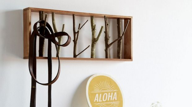 Want a handy hanging rack with a country vibe? Here's how to do it.