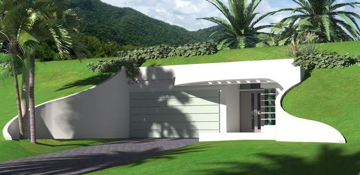 143 best earth sheltered homes images on pinterest green for Modern berm house plans