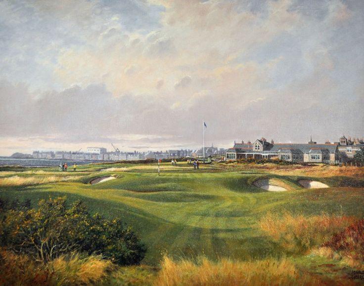 Donald Shearer The Rabbit Hole, Royal Troon Oils 24x30 | Scottish Contemporary Art