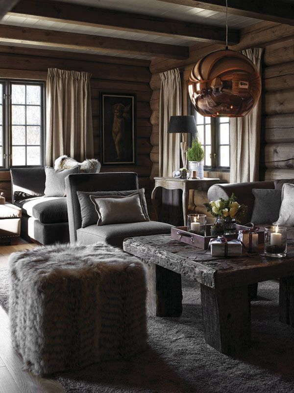 R U S T I C comfort- neutrals, woods and metals with pops of color