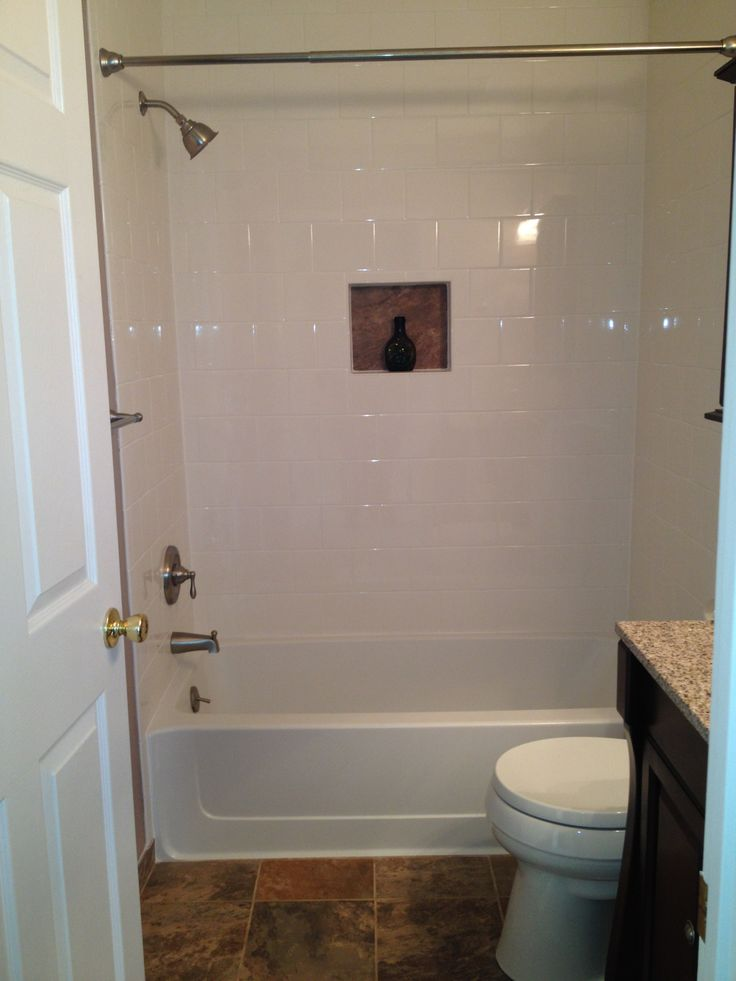 Shower Tile Is Bright White American Olean Subway Tile 3x6 With Bright White Grout Inset Of Wall