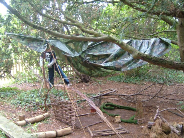 Shelter building @ the Adventure Xperience !     #children #adventure #physicalactivity