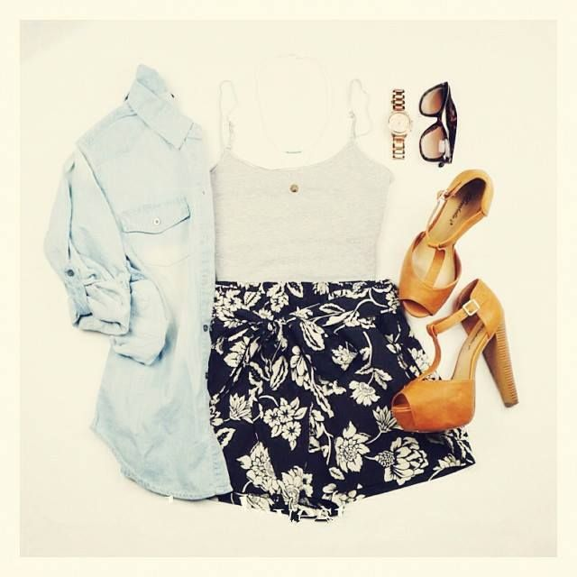 Cute and casual. ♥