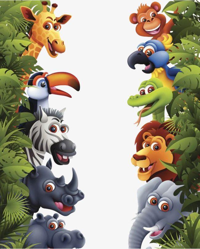 Small Animals In Tropical Rainforests Rainforest Cartoon Tropical Rainforest Tropical Rainfo Kids Nursery Art Zoo Animal Baby Shower Baby Animal Invitations