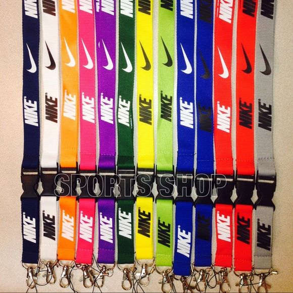 Nike lanyard This listing is only for one piece. Just message me for the Color that you want after your purchase.       If you would like to buy more than one, price will be additional $3 for each item.    1x = $7 2x = $10 3x = $13 4x = $16 5x = $19 and so on..... Nike Accessories Key & Card Holders