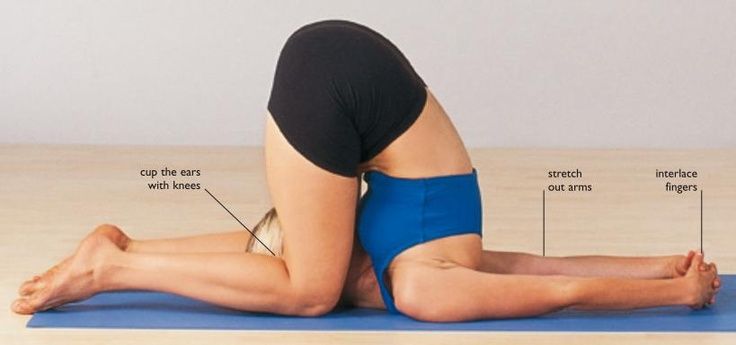 Knee to Ear Pose - Karnapidasana (shoulder stand, plow and then knee to ear)