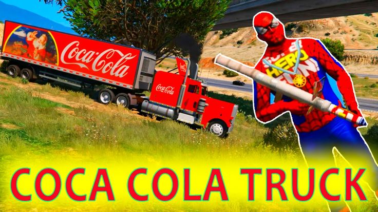 COCA COLA Truck & Cartoon fireworks with Spiderman and Nursery Rhymes Songs