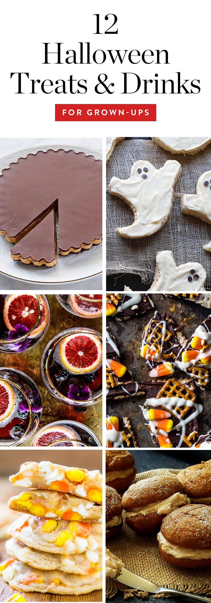 We've gathered the classiest Halloween treats and drinks to serve at a grown-up halloween party. #halloween #halloweentreats #halloweendrinks #halloweensnacks