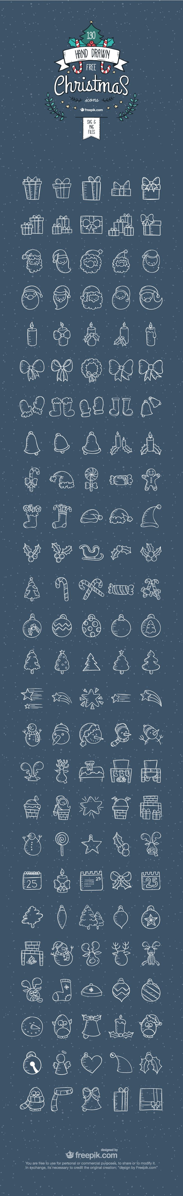 130 free Christmas Icons you can download right now!