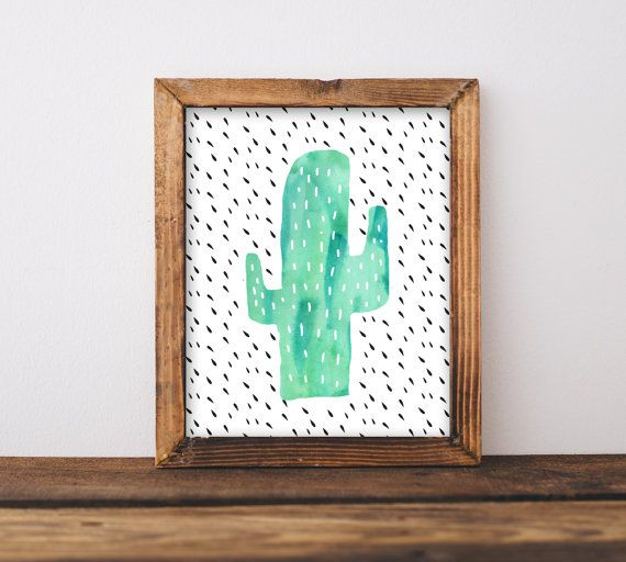 Cactus Nursery Wall Art Printable Gender by INVITEDbyAudriana
