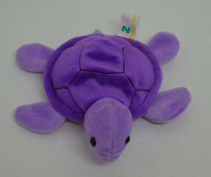 "Zangeen Turtle Plush Purple Bean Bag Small  6"" 2004 #Zangeen http://stores.ebay.com/Lost-Loves-Toy-Chest?_dmd=2&_nkw=zangeen"