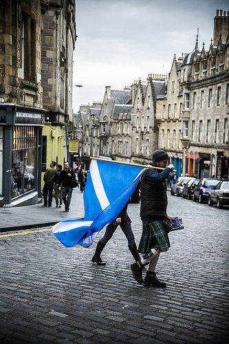 Scotland - Kilt and Saltire = Perfection!
