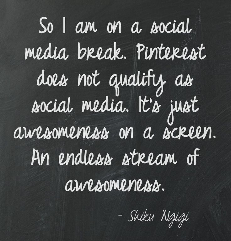 True story. I am on a social media break and this just came to mind. LOL