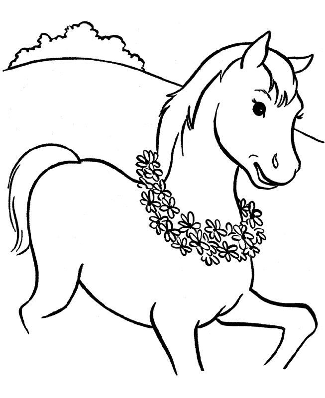Horse Color Pages Flowers 001 Horse Coloring Pages Horse Coloring Books Free Coloring Pages