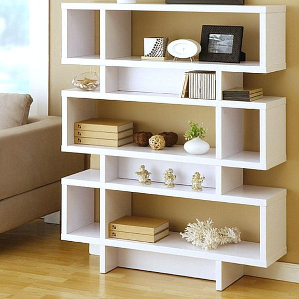 Espresso Leaning Bookcases Mahogany Wood And A Ladder Style Design