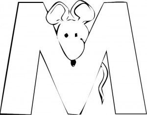 letter m mouse letter m coloring pages mouse letter m coloring pagesfull size image - Letter M Coloring Pages