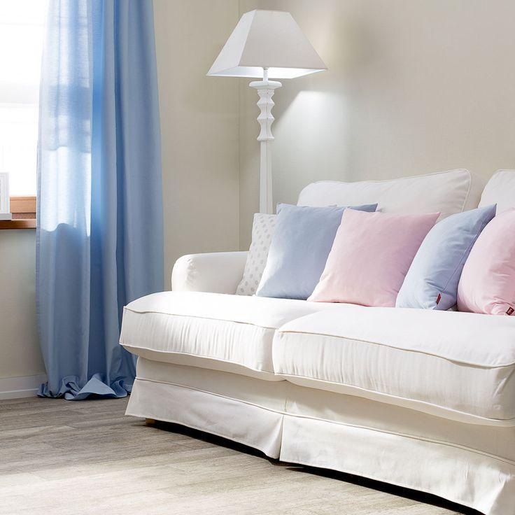 Kolor roku - pastelowy błękit. #home #idea #salon #livingroom