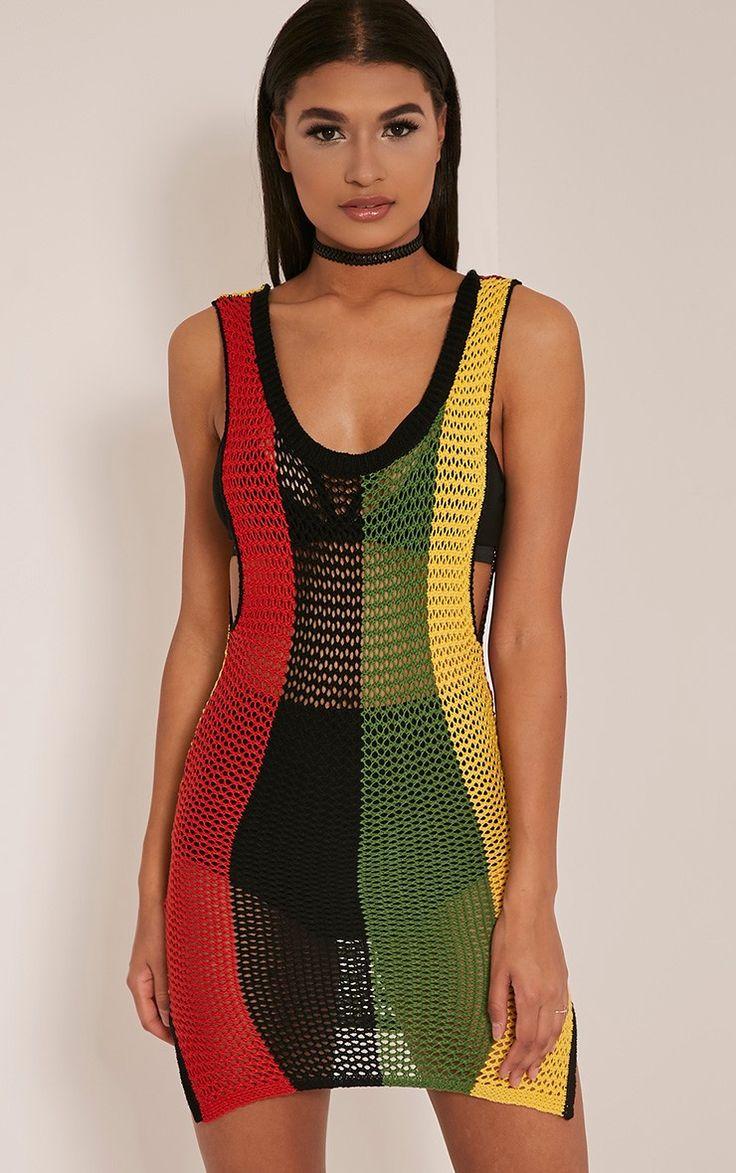Jamaica Striped Scoop Back Knitted Dress Wishlist