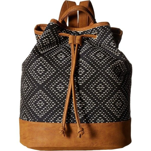 Deux Lux Sonoma Backpack (Navy) Backpack Bags (560 ARS) ❤ liked on Polyvore featuring bags, backpacks, navy, print backpacks, deux lux, drawstring backpacks, backpack bags and drawstring knapsack