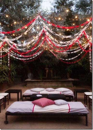 lights and paper chains --- I think I found a great new idea for holiday decor!