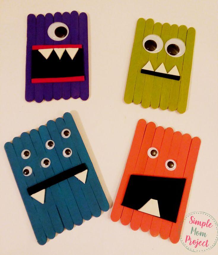 20+ Easy DiY Halloween Popsicle Stick Crafts voor kinderen