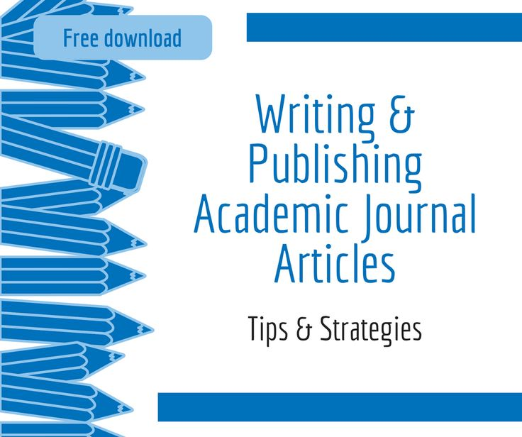 How to write an academic article that gets published