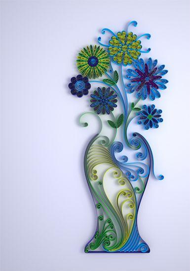 Poupe um vaso de flores e coloque um quadro de papel no formato. Lindo não?
