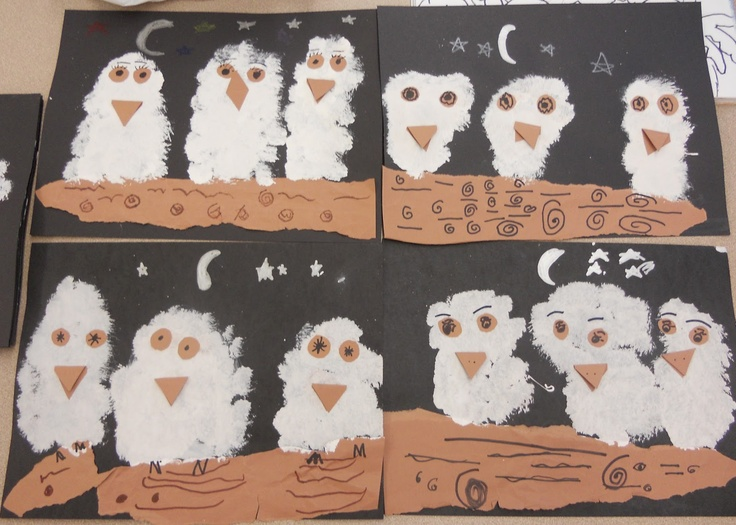 Owl Babies - Kindergarten project: Owl Baby, Baby Owl, Art Lessons Plans, Art Ideas, Baby Art, Kindergarten Projects, Baby Books, Art Projects, Baby Crafts