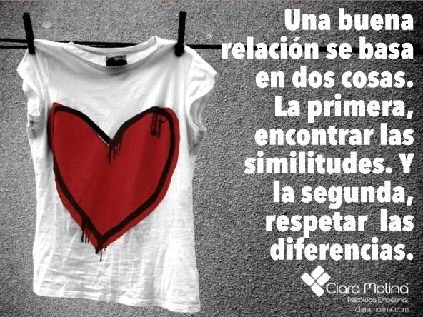 CREANDO RELACIONES SALUDABLES... (((Sesiones y Cursos Online www.ciaramolina.com #psicologia #emociones #salud)))