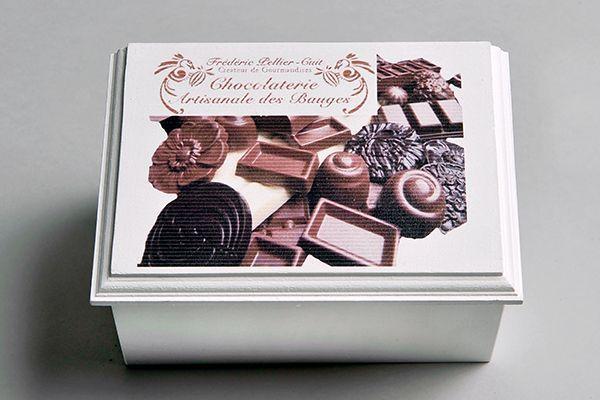 #Coffret #chocolatier sur mesure - Vendez ou offrez vos chocolats dans une superbe boite en bois personnalisée logo-image http://www.lescoffretsdumorvan.com/coffret-chocolatier-sur-mesure,fr,4,COCHSM.cfm