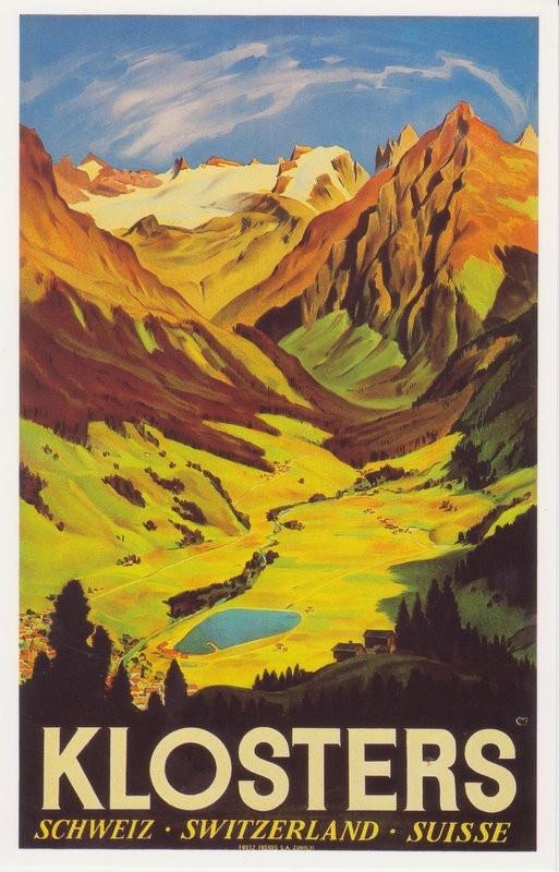 Carl Moos, Plakat Klosters, 1936. Plakatsammlung Museum fur Gestaltung Zurich.