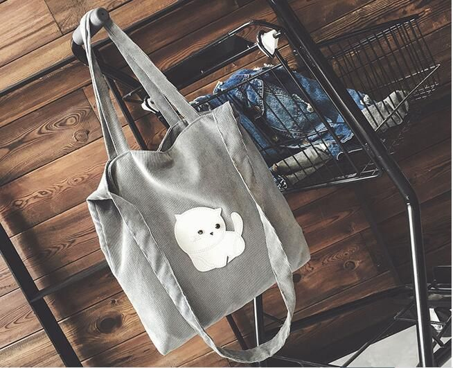 Find More Top-Handle Bags Information about 2017 high quality cartoon cat shoulder bags brand large size shopping bags casual handbags for women drop shipping MN91,High Quality Top-Handle Bags from MinongTrading Co. Store on Aliexpress.com