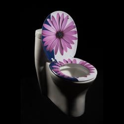 @Overstock - Add a fun, colorful touch to your bathroom decor with this contemporary toilet seat. This toilet seat features melamine construction.http://www.overstock.com/Home-Garden/Purple-Daisy-Designer-Melamine-Toilet-Seat-Cover/5298227/product.html?CID=214117 $29.54