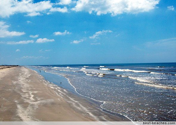 Surfside Beach Texas Is At The End Of An Extensive Peninsula Joined To Galveston Island By Bridge And Surrounded A Semi Circle L Beaches