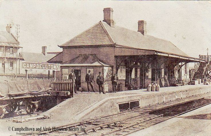 Campbelltown Railway Station,New South Wales of yesteryears.Photo from Campbelltown and Airds Historical Society Inc.A♥W
