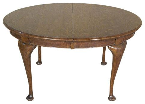 Antique English Oak Queen Anne Centre Table Traditional Side Tables And End