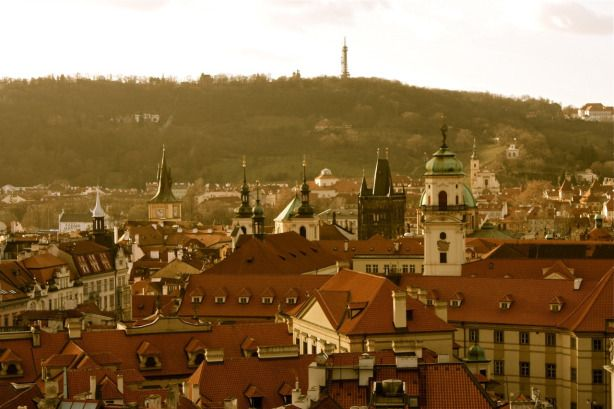 Prague, the city of a hundred spires.