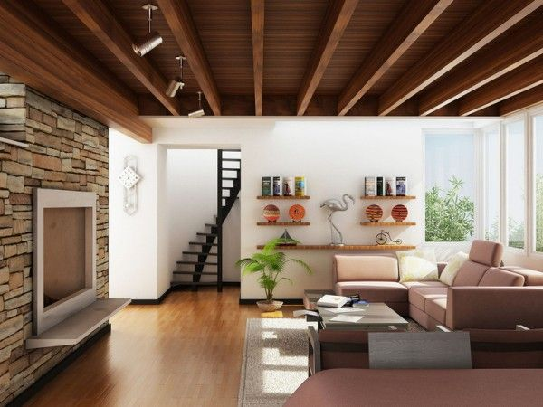 How To Decorate A Living Room Ideas | Modern Home Interior DesignModern  Home Interior Design · Wooden CeilingsBeam ... Part 42