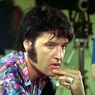 A candid Elvis in That's The Way It Is