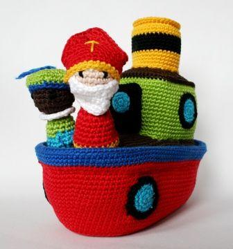Stoomboot crochet