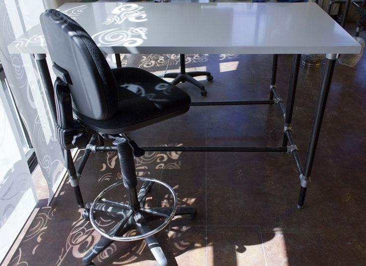 DIY Adjustable Height Stand Up Desk