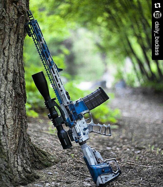 #Repost @daily_badass with @repostapp  @BadassMedia: #BlownBlue AR15.  - @BlownDeadline Cerakote @Noveske_LLC AR Set & Barrel @SLRRifleWorks Rail Gas Block & Muzzle Device @SwarovskiOptik_Hunting Z6 @Tactical_Dynamics_LLC Grip @FathomArms BCG @CMCTriggers Trigger @ArmaSpecUSA Controlls - #weaponsdaily #sickguns #merica #machinegun #badassmedia #glock #revolver #pistol #firearm #gun #HillaryForPrison #freedom #molonlabe #handgun #fullauto #trump #2ndamendment #l4l #secondamendment…