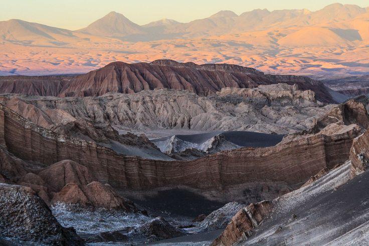 Sunset at Valle de la Luna, Atacama Desert, Chile